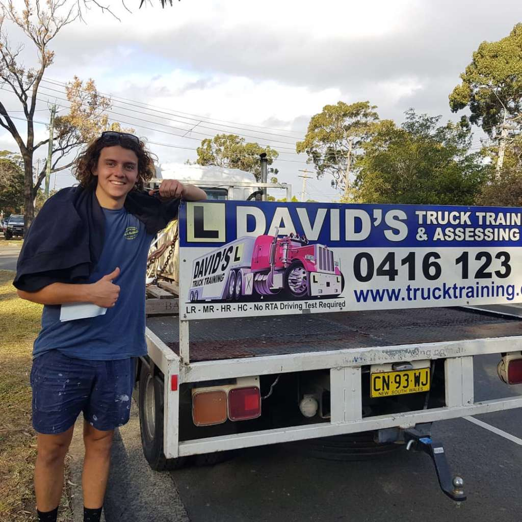 Davids Truck Training student MRL student back of truck blue young