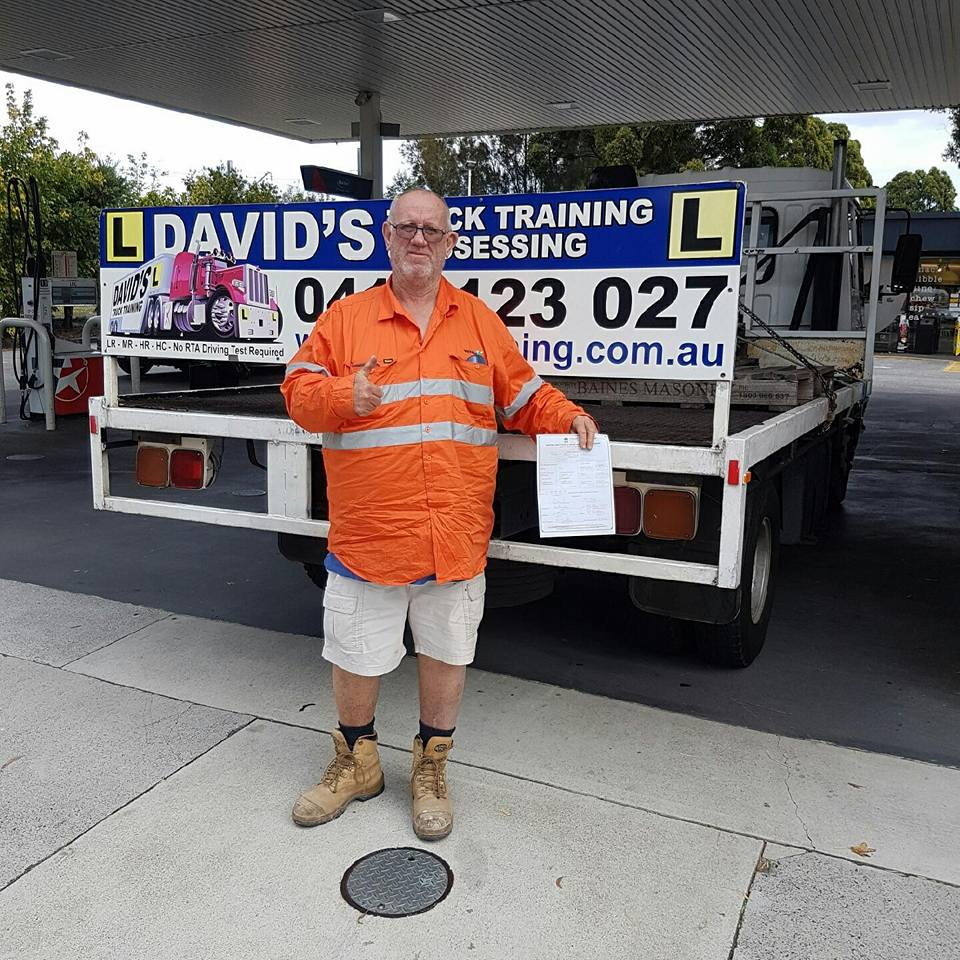 Davids Truck Training student with certicate of competency licence and truck o